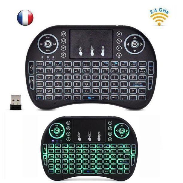 CLAVIER D'ORDINATEUR 4GHz Mini i8 Wireless Keyboard (AZERTY) sans Fil A