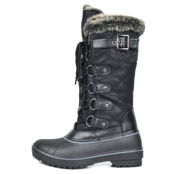 Dp-canada Faux Fur Lined Mid Calf Winter Snow Boots P9O4Y Taille-41 c5txqdFi