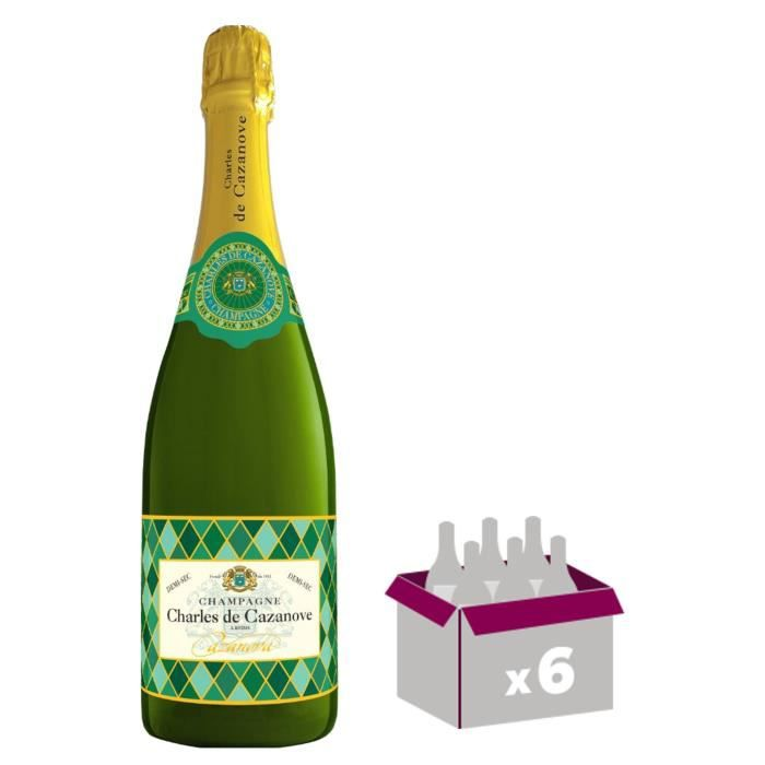 GH MARTEL De Cazanove Arlequin Champagne Demi sec - Blanc - 75 cl x 6