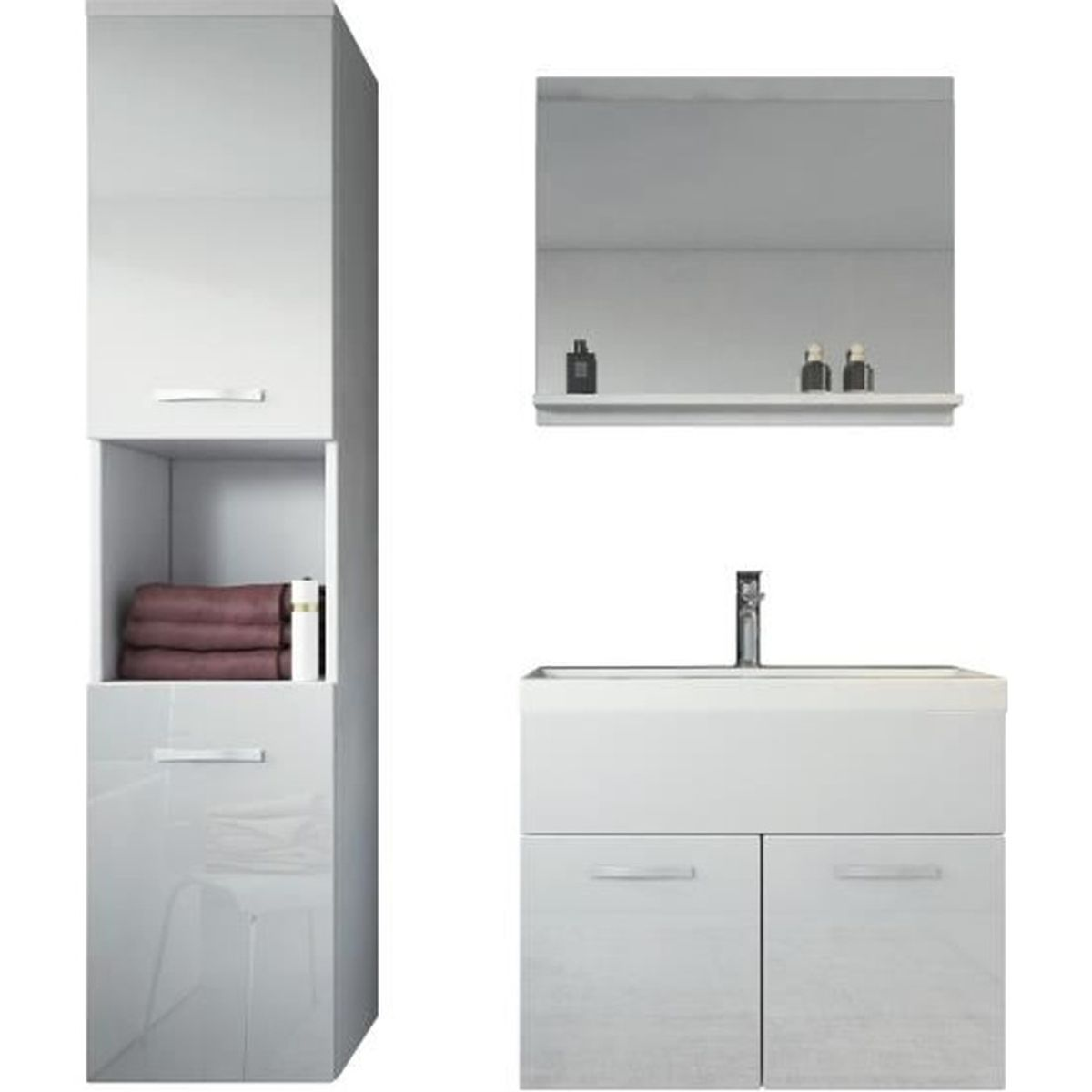 meuble de salle de bain de montr al 60x35 cm meuble lavabo armoire de rangement meuble lavabo. Black Bedroom Furniture Sets. Home Design Ideas