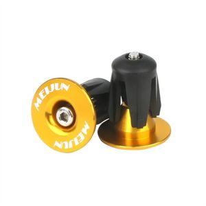 SODIAL Bouchons dextremite de barre 2 paquets Bouchons dextremite de guidon de velo de route en aluminium MTB Embouts de guidon noir