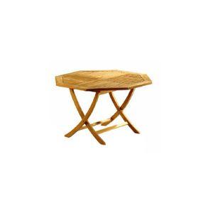 Table Pliante Octogonale en teck 120x120 cm - Achat / Vente ...