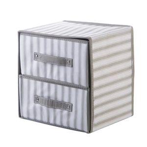 gris lot de 4 pi/èces Bo/îte de rangement pour sous-v/êtements s/éparateur pour chaussettes tiroirs de placard bo/îte en tissu pour placard soutiens-gorge et cravates bo/îte pliante