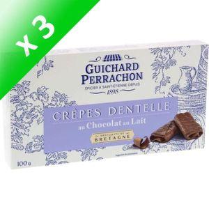 BISCUITS SECS GUICHARD PERRACHON Crêpes Dentelles Chocolat au La