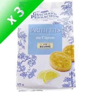 BISCUITS SECS GUICHARD PERRACHON Tartelettes au Citron (Lot de 3