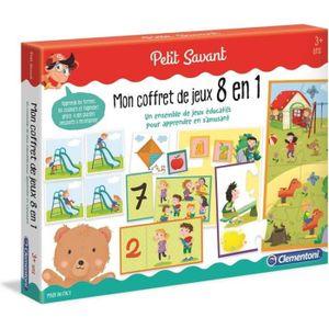 JEU D'APPRENTISSAGE CLEMENTONI Petit Savant - Mon coffret de jeux 8 en
