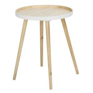 TABLE DE CUISINE  Table Basse en Bois Bicouleur