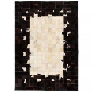 TAPIS Lixada Tapis Salon Vintage Rectangle Noir et blanc