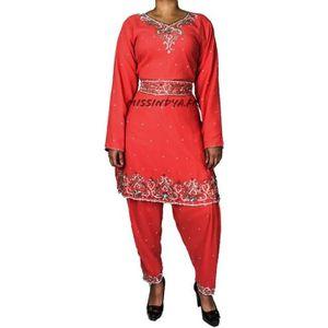 ROBE Robe indienne Tenue bollywood corail sari deguisem