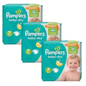 COUCHE 120 Couches Pampers Baby Dry taille 7