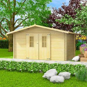 GARAGE Abri de jardin pour bûches de bois 34 mm 4 x 3 m B
