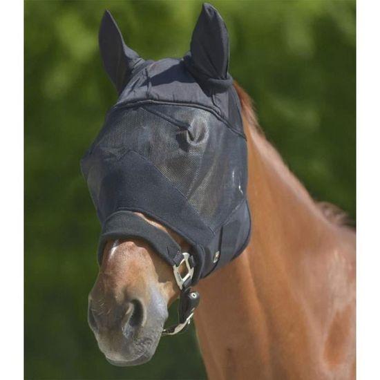 Masque anti-mouches avec oreilles et mixte partie Noir Cloche Moustiquaire Chevaux