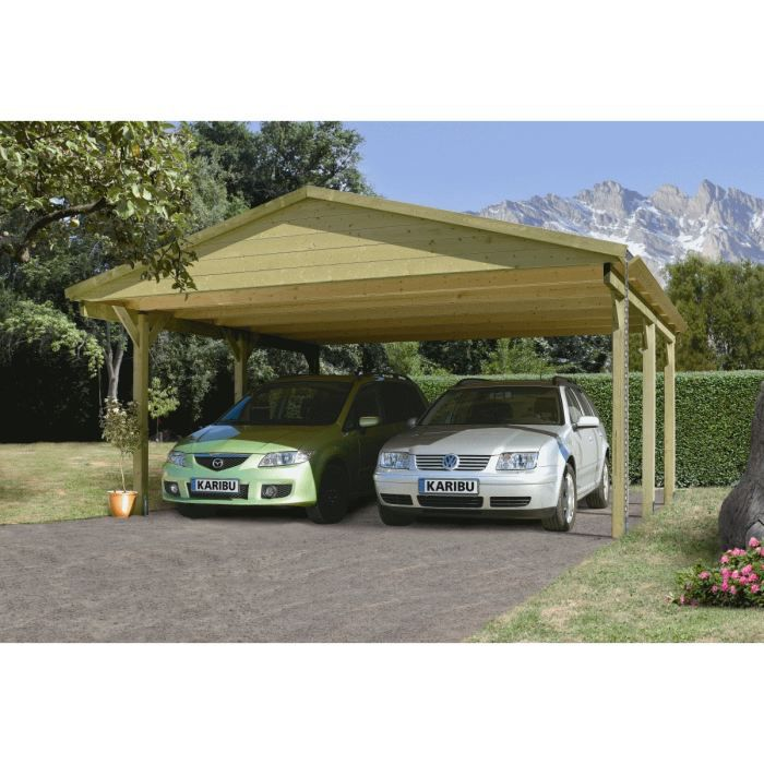 Object moved - Carport double pente ...