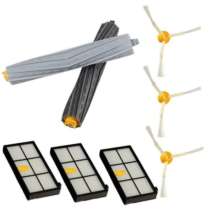 Kit de remplacement d'extracteur de filtre latéral de brosse pour iRobot Roomba 800 série 870 880 @ LZC61219590