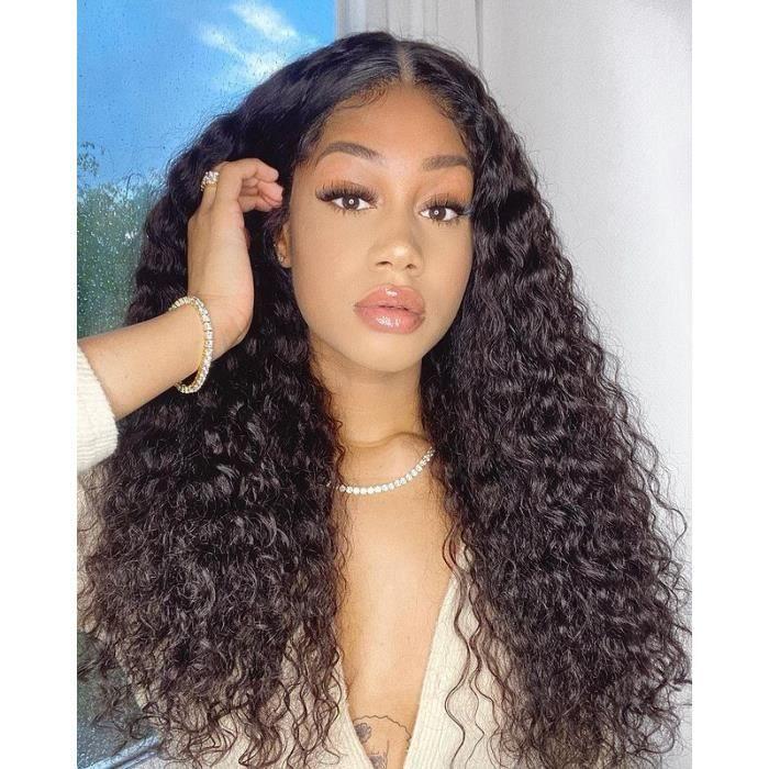 Perruque Femme Brésilien Cheveux Naturel Lace Frontale Ondulée Water Wave 22 Pouces VIPbeauty Hair 150% Densité