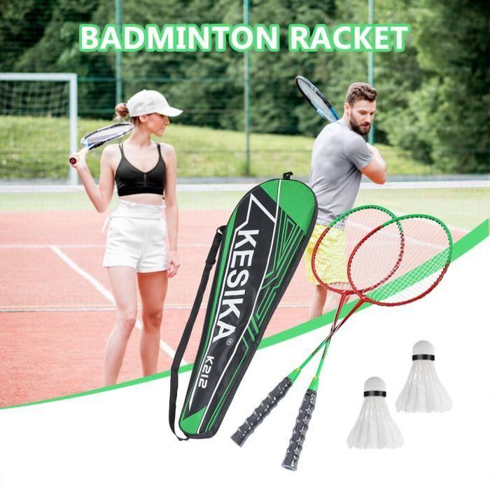 【KIT DE BADMINTON】Jeu de combinaison de sac de raquettes de badminton de sport de plein air portable - cadeau de fête des