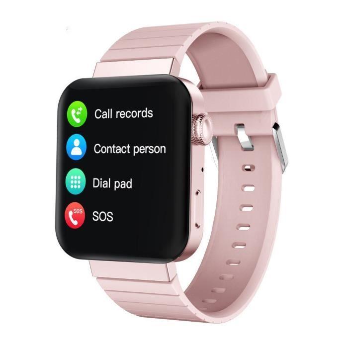 Montre Connectée Homme Femme MI5 Sport D'appel Intelligent Bracelet Bracelet Bluetooth Intelligente Multi-fonctionnelle - Rose