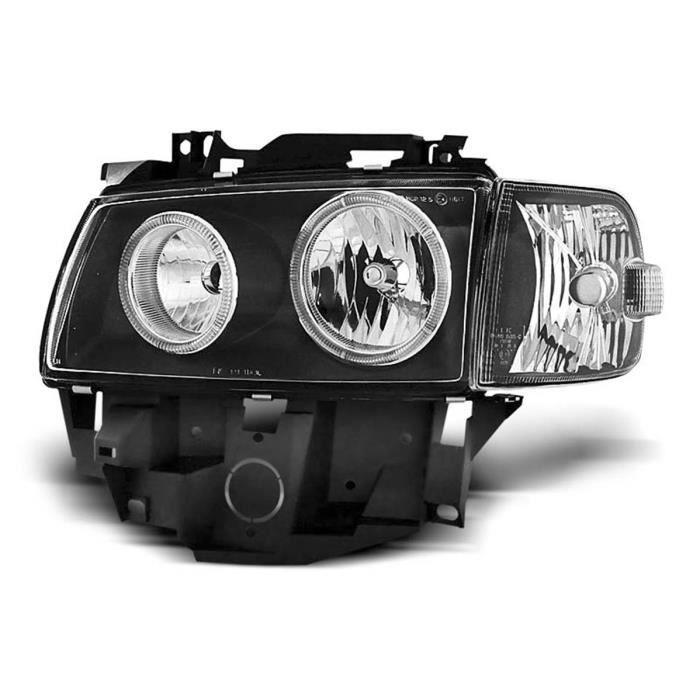 Paire de feux phares VW T4 Bus 96-03 angel eyes noir