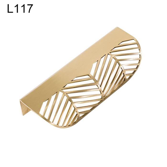 Feuille forme meubles cuisine caba-inet armoire tiroir tirer bouton laiton porte poignée feuille des - Modèle: L117 - WMCFXGJA00448