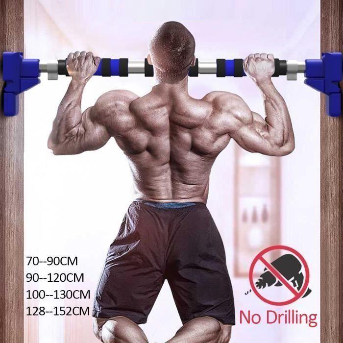 Porte Barres Horizontales Acier Gymnastique à Domicile 500kg Sport Fitness Sit-ups Équipements Résistants 110-130cm
