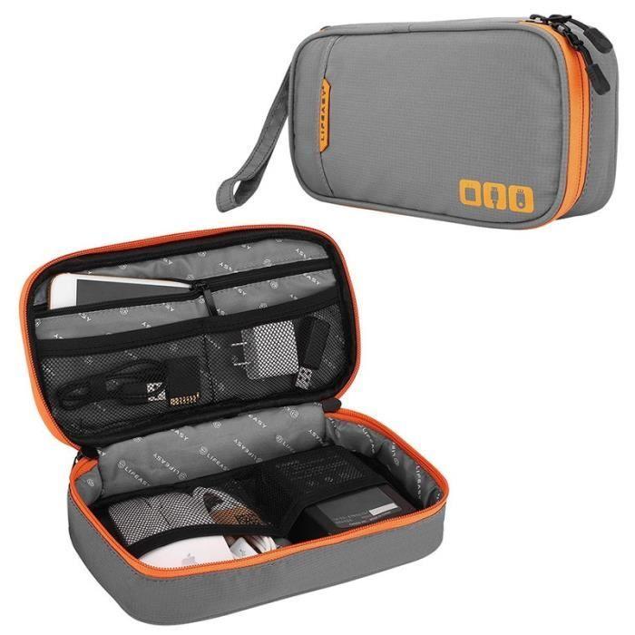Housse de rangement,TUUTH – Organiseur multifonction pour appareils électroniques et câbles, sacoche de rangement - Type S-Gray #A