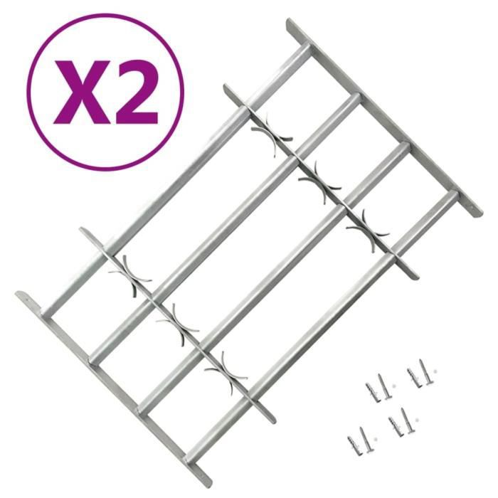 Grilles réglables de sécurité de fenêtres 2 pcs 1000-1500 mm ✿ 17425