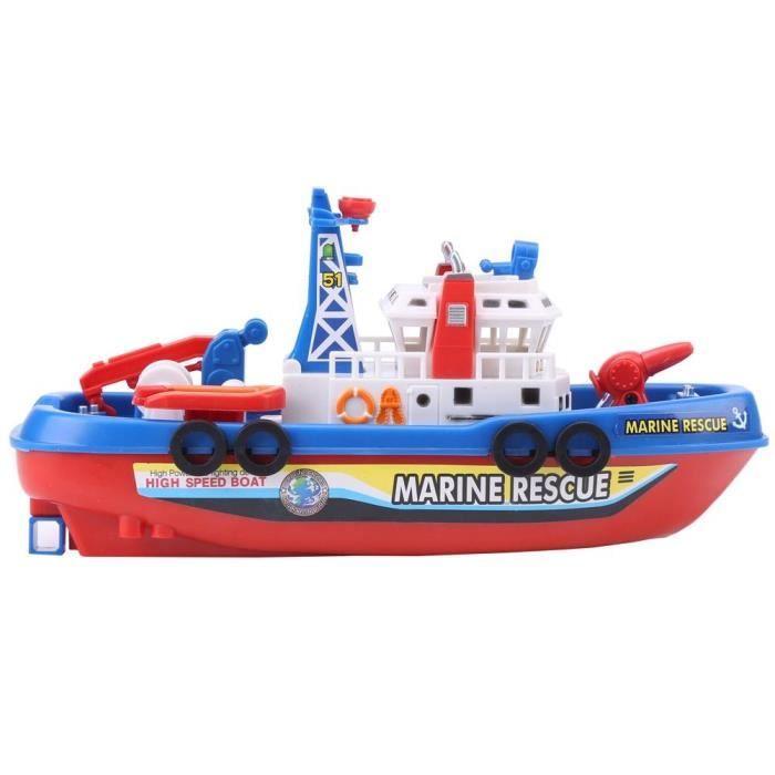 EBTOOLS Modèle de bateau jouet Modèle de bateau de pulvérisation d'eau de jouet de bateau de pompier d'enfants d'enfants avec le