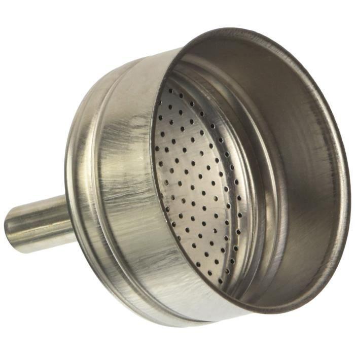 Bialetti 0800502 Blister Entonnoir STD 4 Tasses Acier Inoxydable INOX 12 x 8 x 19 cm