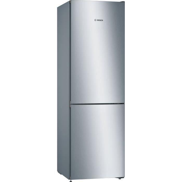 BOSCH KGN36VLED - Réfrigérateur congélateur bas - 324L (237+87) - Froid No Frost - A++ - L 60cm x H 186cm - Inox