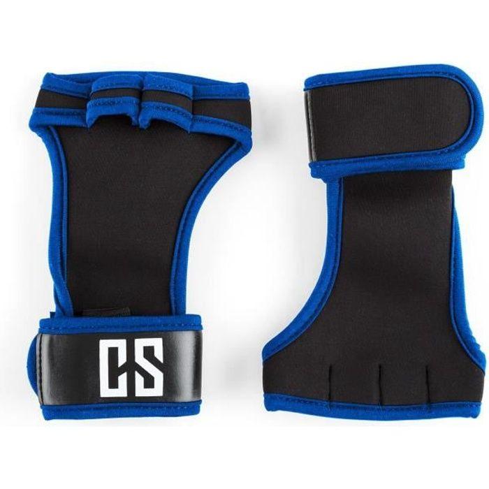 CAPITAL SPORTS Palm Pro Gants haltérophilie musculation taille S - noir-bleu