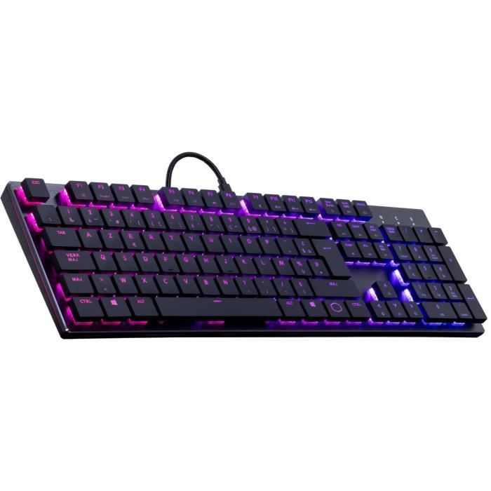 Cooler Master Clavier Mécanique Low Profile Gaming Sk650 Rgb Cherry Mx Red Azerty (Pc/Consoles) Chassis Aluminium