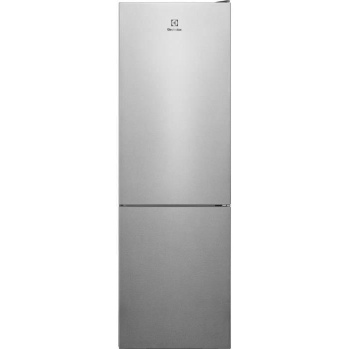 ELECTROLUX LNC7ME32X1 - Réfrigérateur congélateur bas - 302L (208+94) - No Frost - A++ - L60x H186cm - Inox