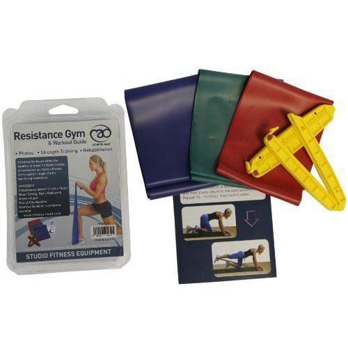 Fitness-Mad Fitness Mad Kit de bandes de résistance 3 bandes + poignées (rouge, vert, bleu) - FRESKITB