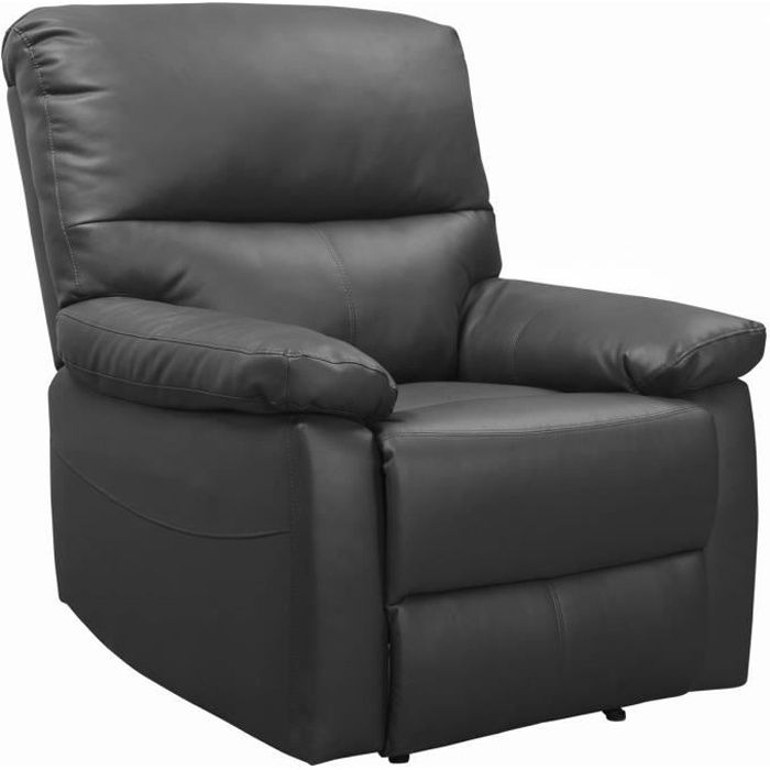 Fauteuil relax -Lincoln- - 90 x 89 x 103 cm - Gris