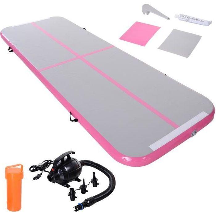 Airtrack tapis de gymnastique Air Track tapis de gym gonflable tumbling gymnastique dim. 300L x 100l x 10H cm tissu stratifié PVC