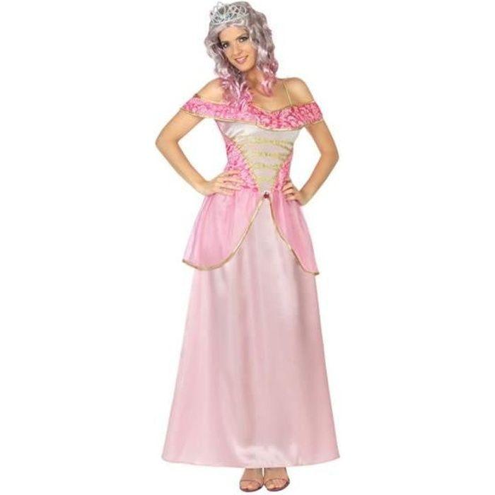 ATOSA Deguisement De Princesse Rose - Panoplie Adulte