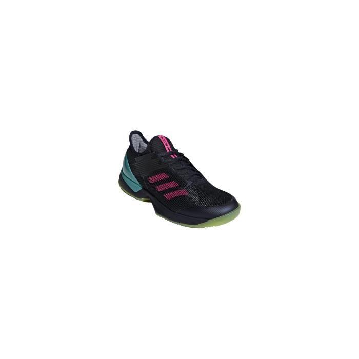 Chaussures ADIDAS Femme Adizero Ubersonic 3.0 Clay Marine/Rose/Turquoise AH 2018