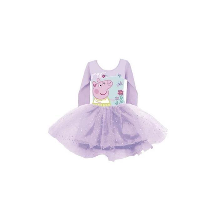 PEPPA PIG Tenue de Danse Ballet Pour Enfants de 6 ans avec manches