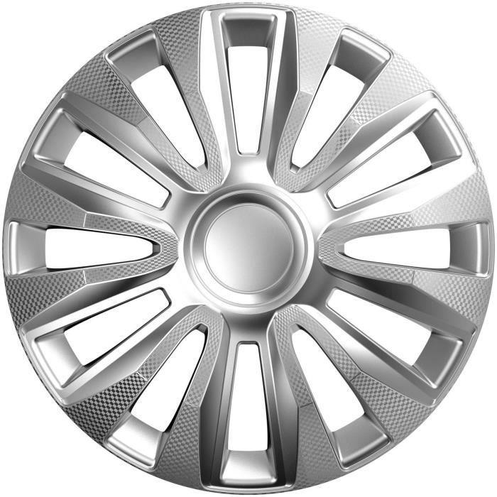 POLAIRE Enjoliveur Avalon Carbon Silver 15-
