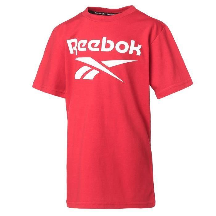 Teeshirt garçon REEBOK - Rouge - logo Classic