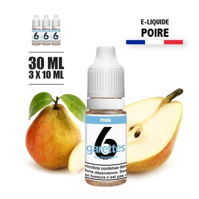 E-liquide 30ML saveur POIRE avec 11MG de nicotine (e-liquide id : PROD2044) - (3x10ML)
