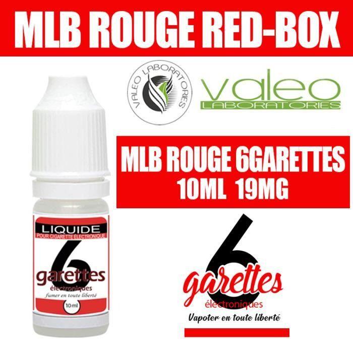 E LIQUIDE 10ML – TABAC RED BOX 19mg DE NICOTINE - 6GARETTES
