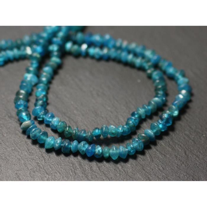 10pc 8741140012097 Perles de Pierre Aigue Marine Rondelles Boulier 4-5mm