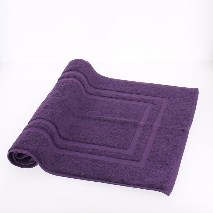 tapis bain aubergine achat vente tapis de bain cdiscount. Black Bedroom Furniture Sets. Home Design Ideas