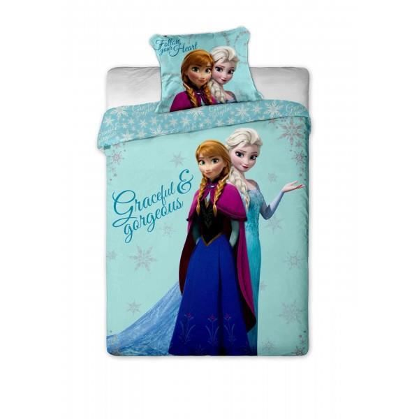 parure de lit reine des neiges frozen disney achat vente parure de drap cdiscount. Black Bedroom Furniture Sets. Home Design Ideas