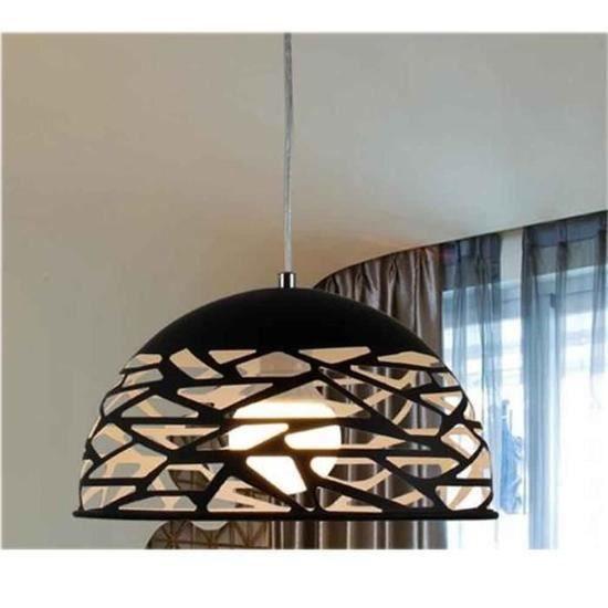 Noir Suspension Luminaire Design Creux Fer Ajustable 110 220v Lustre Intérieur Salle à Manger E27 60w 1m 30cm 1kg
