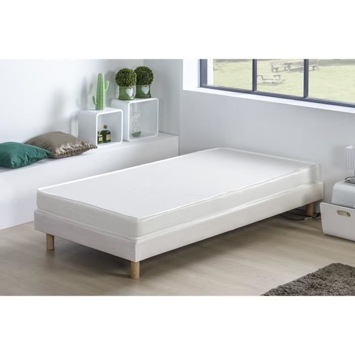 matelas mousse 90 x 190 cm achat vente matelas mousse 90 x 190 cm pas cher cdiscount. Black Bedroom Furniture Sets. Home Design Ideas