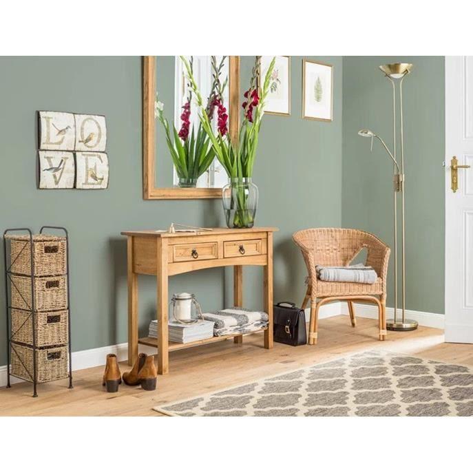 Console meuble classique en Bois Pin - 85,5 * 30 * 66cm - 2 ...