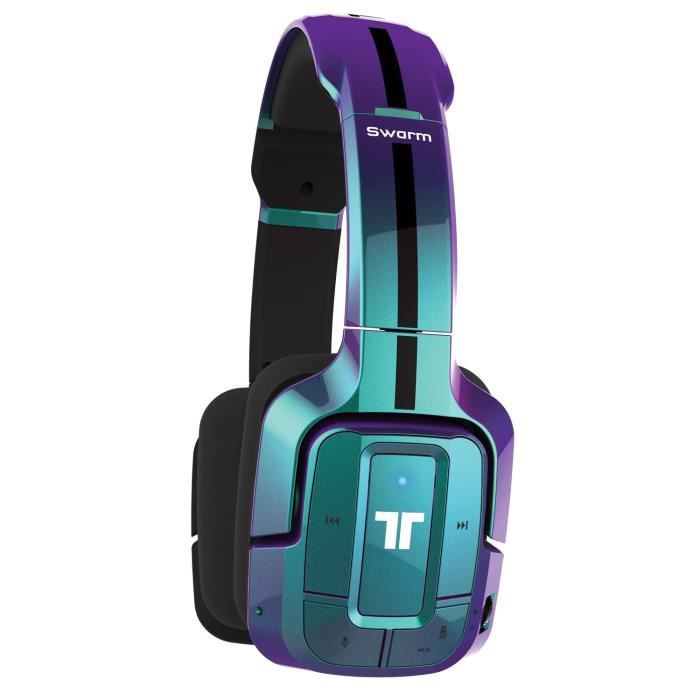 tritton swarm casque gaming bleu prix pas cher cdiscount. Black Bedroom Furniture Sets. Home Design Ideas