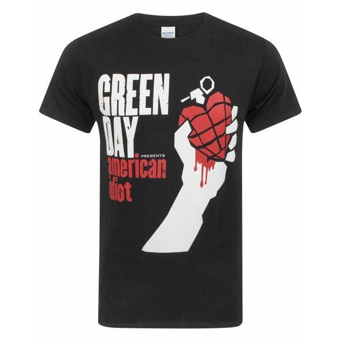 Officiel Homme Green Day T-shirt à manches courtes Casual